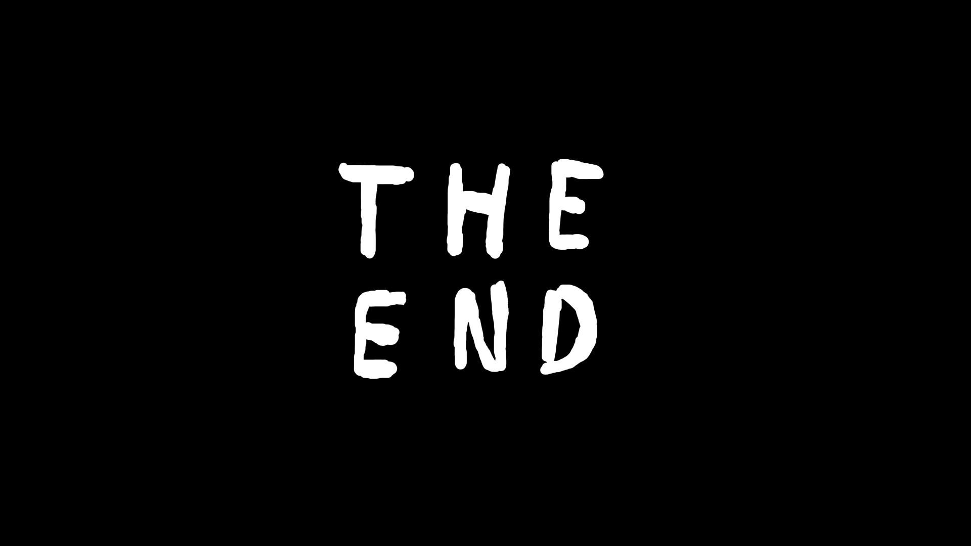 The End. Animation.