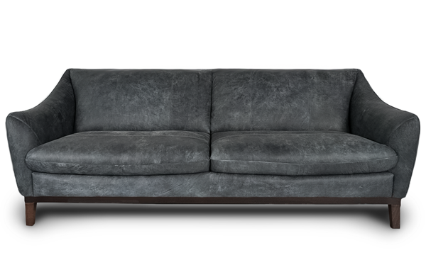 Contemporary Smoke Grey Top Grain Italian Leather Sofa Flaunts A Sloping Curved Hardwood Frame A U Italian Leather Sofa Luxe Furniture American Leather Sofa