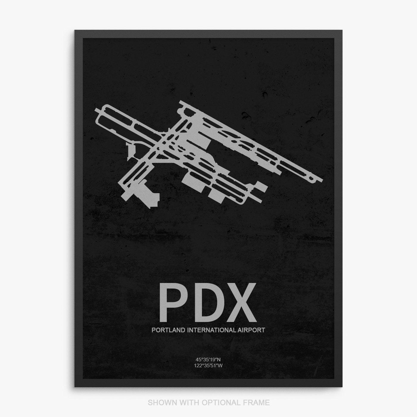PDX Airport Poster Poster, Portland international