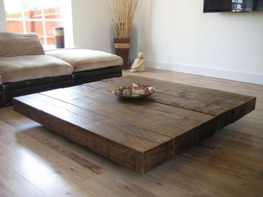 25 Beautiful Farmhouse Coffee Table Design For Living Room Roomy Table De Salon Grande Table Basse En Bois Table Basse