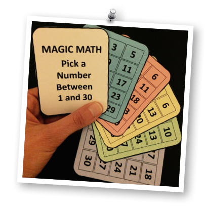 Want to show off a little 'magic' in math class tomorrow?  Want to watch your students' jaws drop when they see you guess their secret number correctly again and again?  Learn how to do this magic math trick and get your FREE printable Magic Math cards to use at Games4Gains.com.