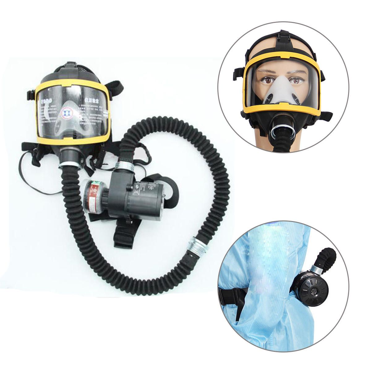 Electric Supplied Air Fed Full Face Gas Mask Constant Flow Respirator System Labor Insurance Supplies From Security Protection On Banggood Com Gas Mask Mask Face Mask