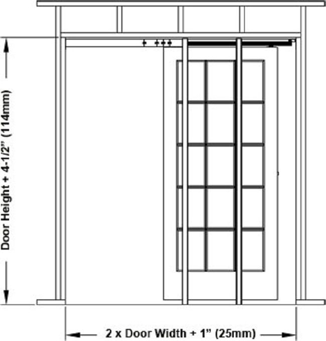 Pocket Door Rough Opening Door Designs Plans Pocket Door Frame Pocket Doors Door Frame