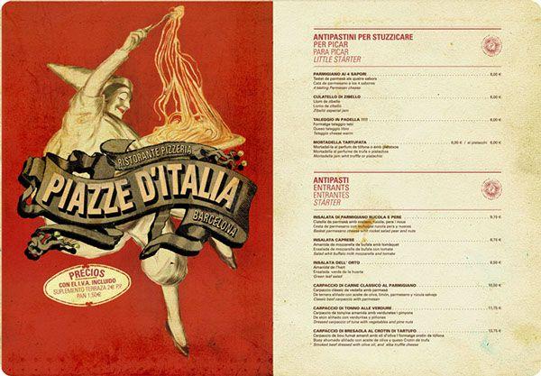 Ristorante Piazze D'Italia, BCN on Behance