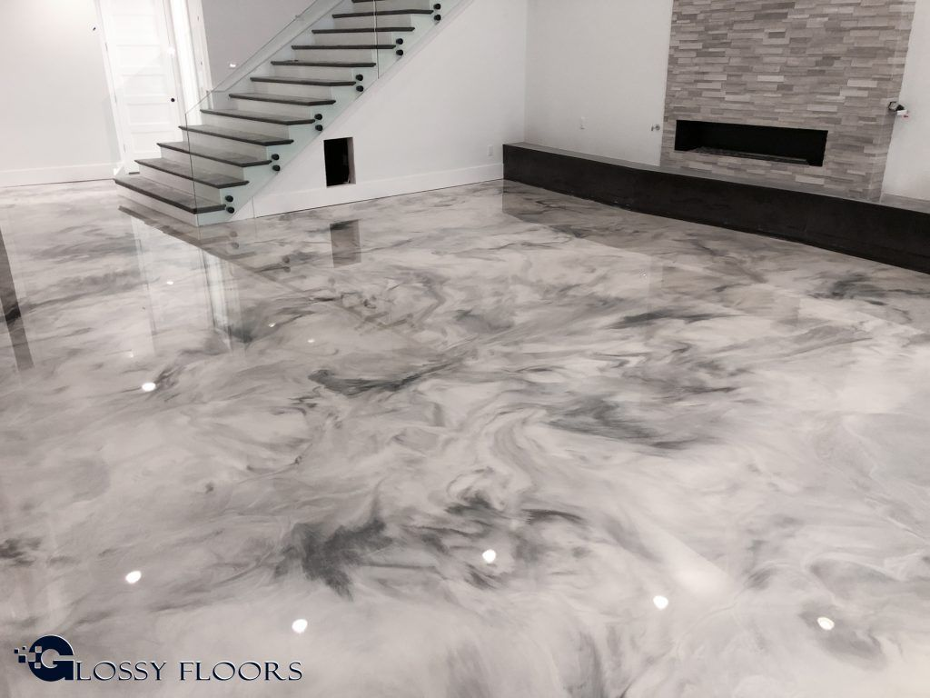 Metallic Marble Epoxy Floor From Glossy Floors Polished Concrete And Epoxy Flooring Of Northwest Arkansas In 2020 Epoxy Floor Metallic Epoxy Floor Polished Concrete