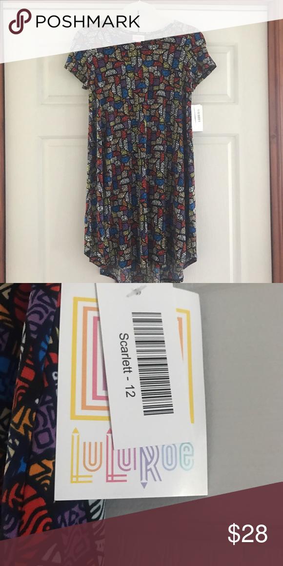 LuLaRoe Size 12 Scarlett LuLaRoe Size 12 Scarlett. Fits XXS. NWT. Slinky material. LuLaRoe Dresses High Low