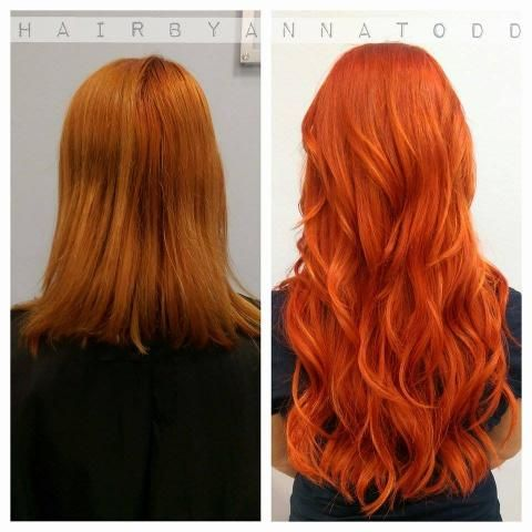 color and extensions for a change career copper red