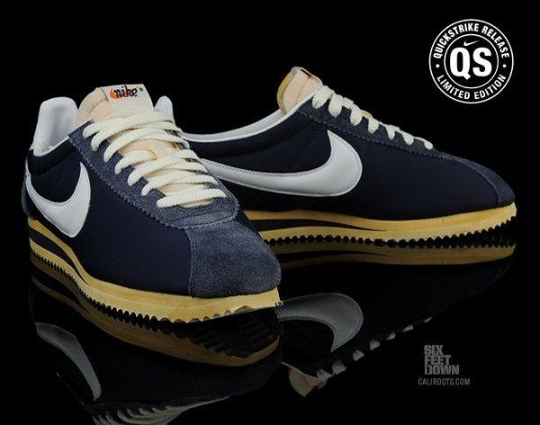 Og Qs Nike Cortez Classic Navy Nylon Midnight UpEHw