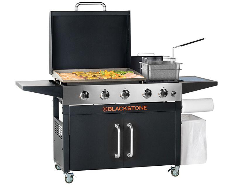 Blackstone Rangetop Combo Solid Steel Outdoor Griddle Deep Fryer Outdoor Deep Fryer Deep Fryer Outdoor Fryer