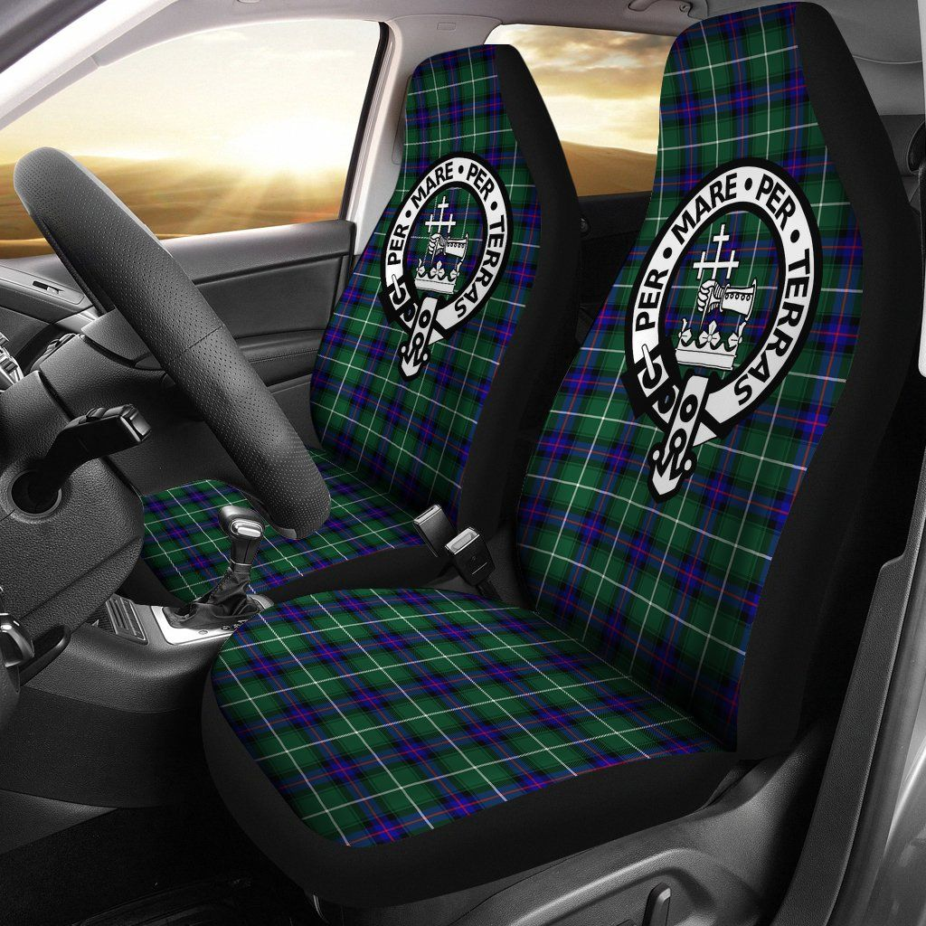 Macdonald Of The Isles Tartan Car Seat Cover Clan Badge