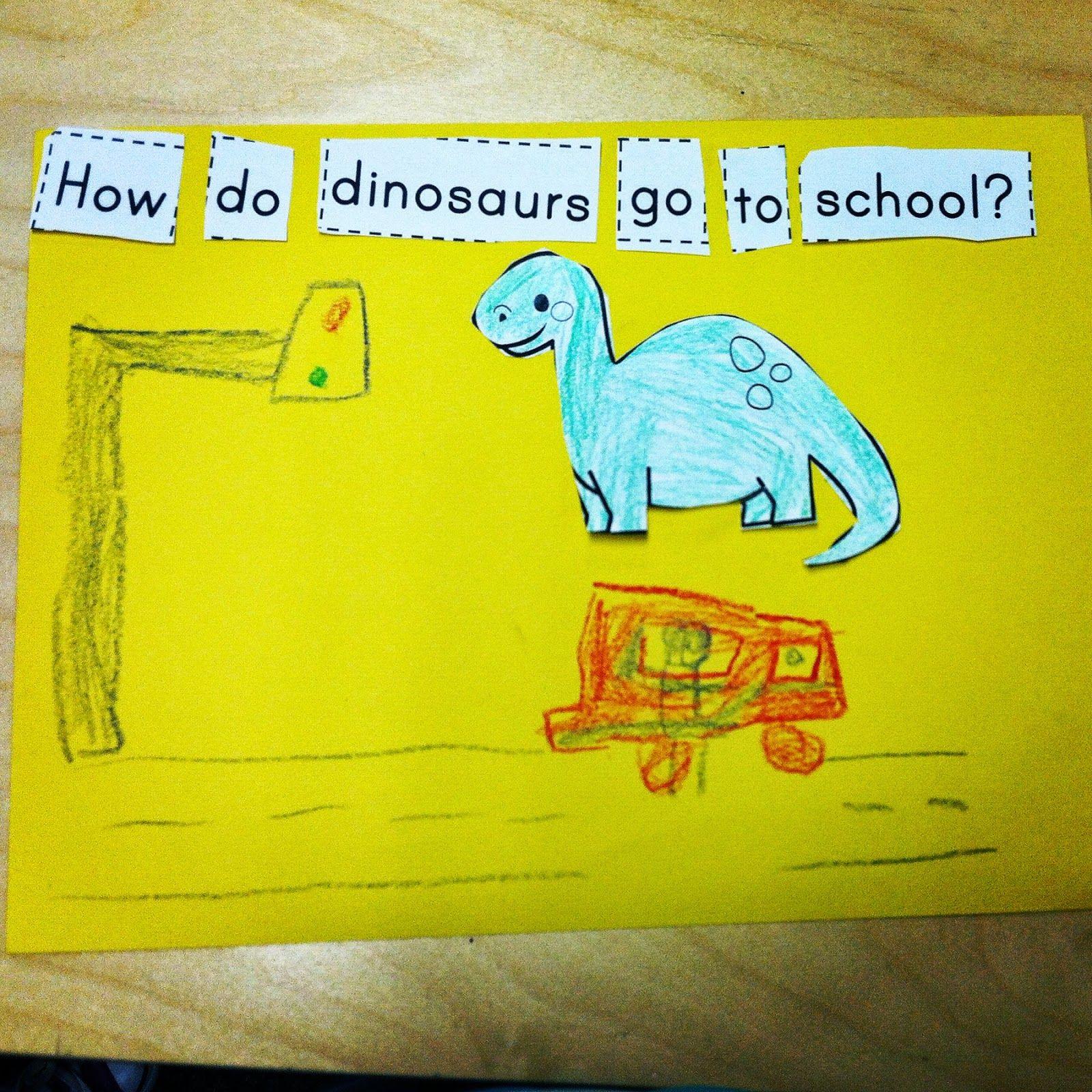 How do dinosaurs go to school story retell freebie