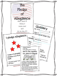 Frogs and Fairy Tales: I pledge allegiance... GREAT way to