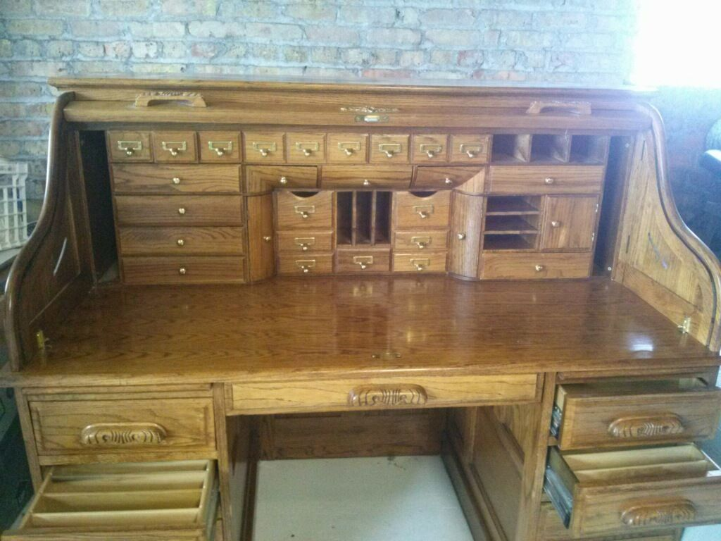 Old Roll Top Desk With Hidden Compartments Google Search Roll Top Desk Desk Antique Desk