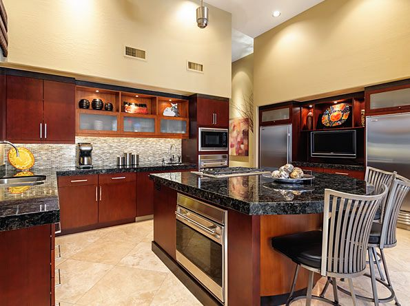 Kitchen Cabinets: picture of brown polymer kitchen ...