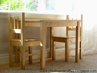How to's : Pleats and Ruffles: Adjustable Height Kids Table