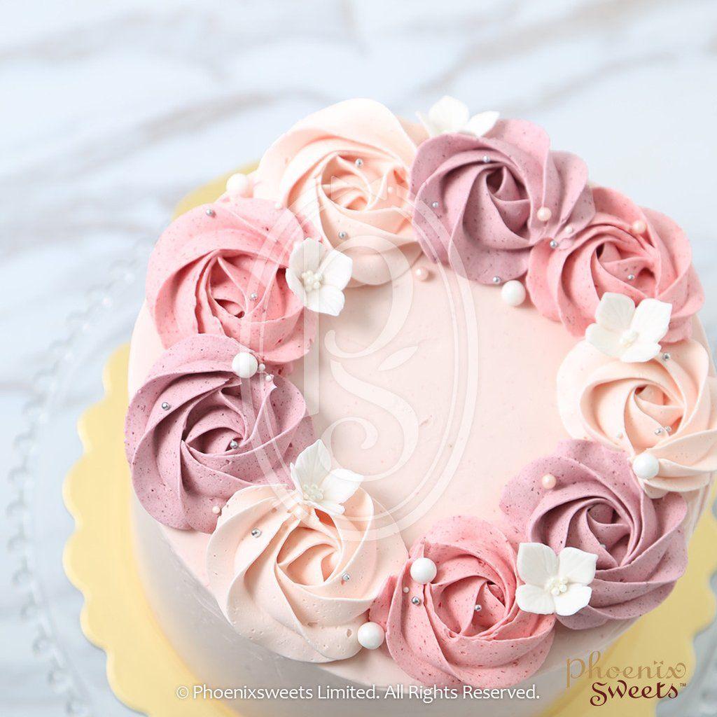 Phoenix Sweets Butter Cream Cake Lychee Rose Swirl