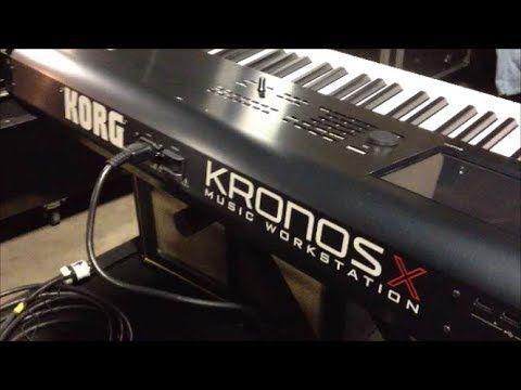 korg kronos x music workstation 88 key keyboard studio