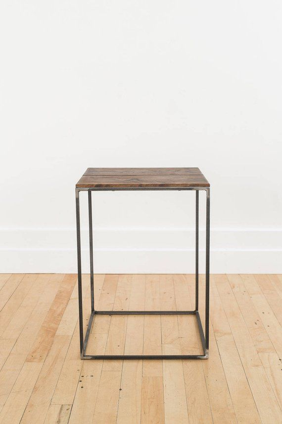 Best Square End Table Night Stand Side Table White Oak Walnut 400 x 300