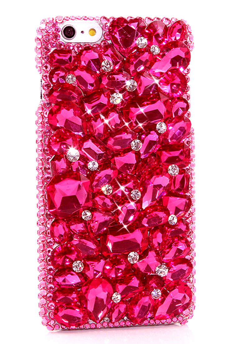 Hot red stones with Diamonds Design iPhone 6s Plus bling case Red  waterproof awesome style phone cover for women fdbe08196e