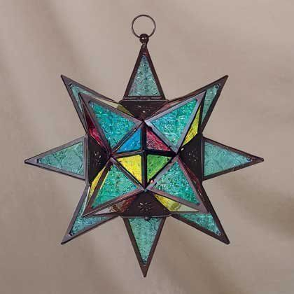 Moroccan Tin Star Lantern   See the small card with the code on it? The seller printed that out ...