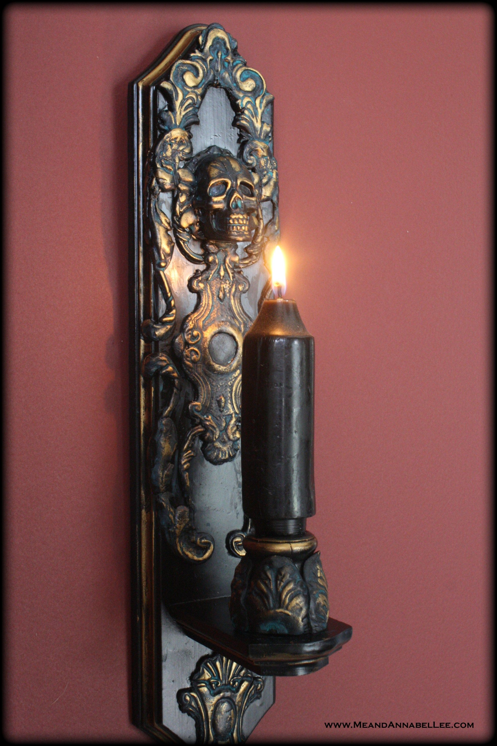 Diy Gothic Home Decor - Skull Candle Sconce - Paper