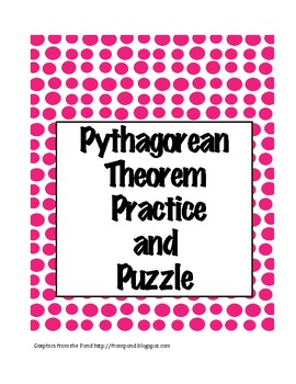 Geometry Pythagorean Theorem Practice And Puzzle Pythagorean