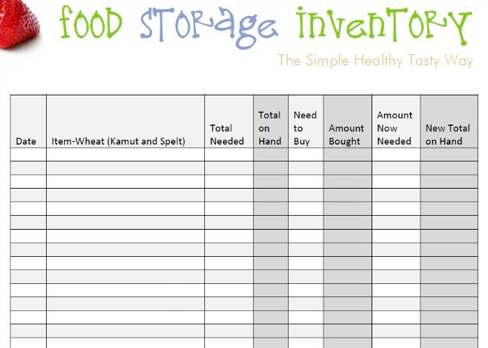 Food Storage Inventory Spreadsheets You Can For Free