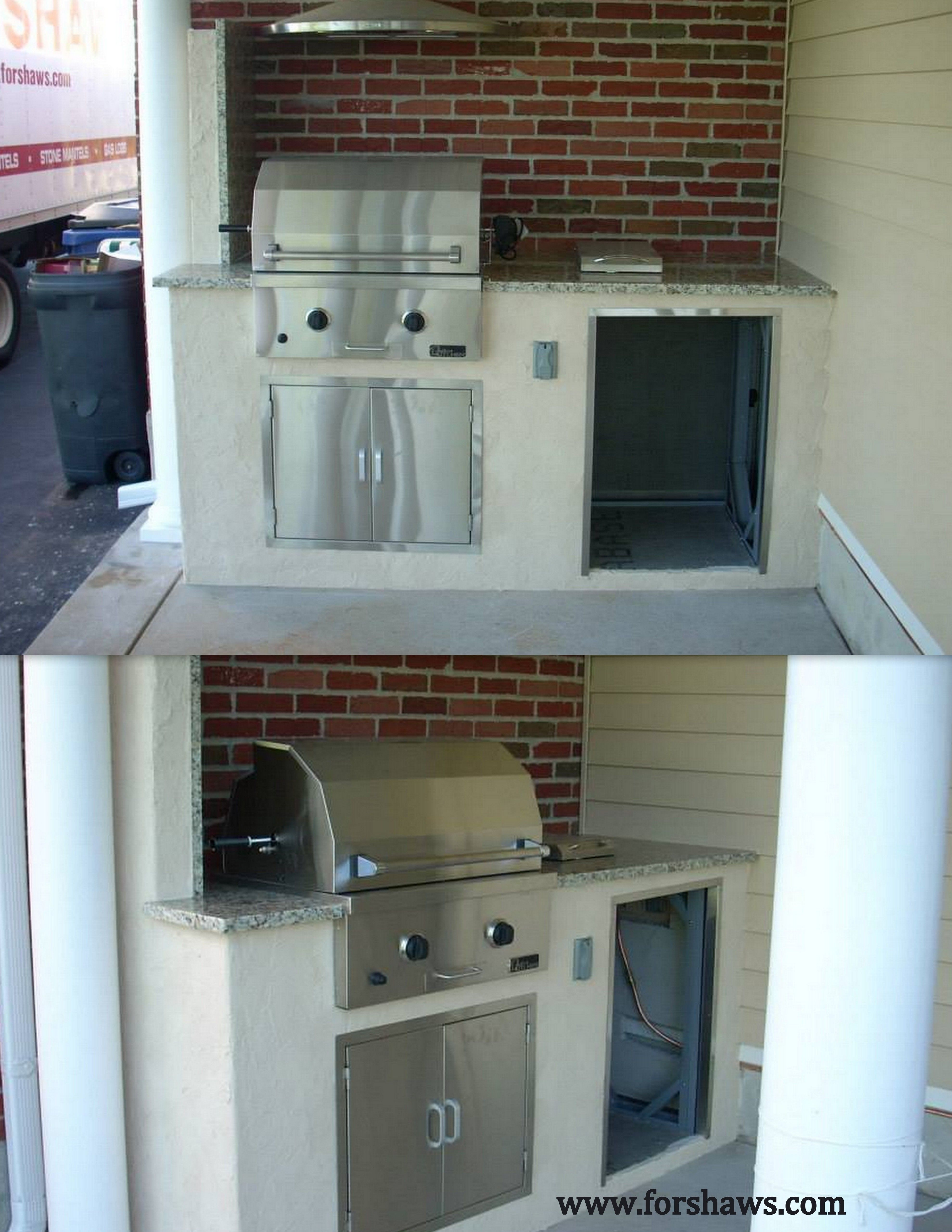 An Outdoor Kitchen Can Go Anywhere Even A Small Condo Space That Is Big On Style Outdoor Cooking Spaces Outdoor Kitchen Hearth And Patio