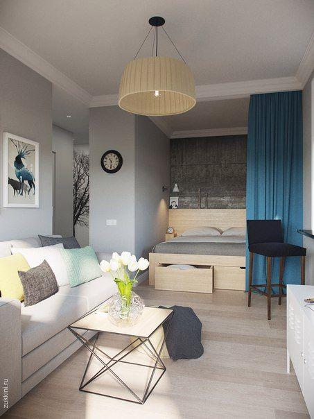 дизайн интерьера квартиры студии 1