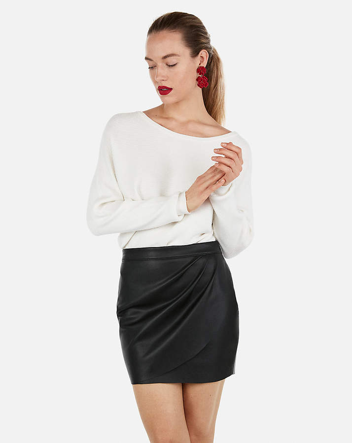 6911dd09e Express Minus The) Leather Wrap Mini Skirt in 2019 | Products | Mini ...