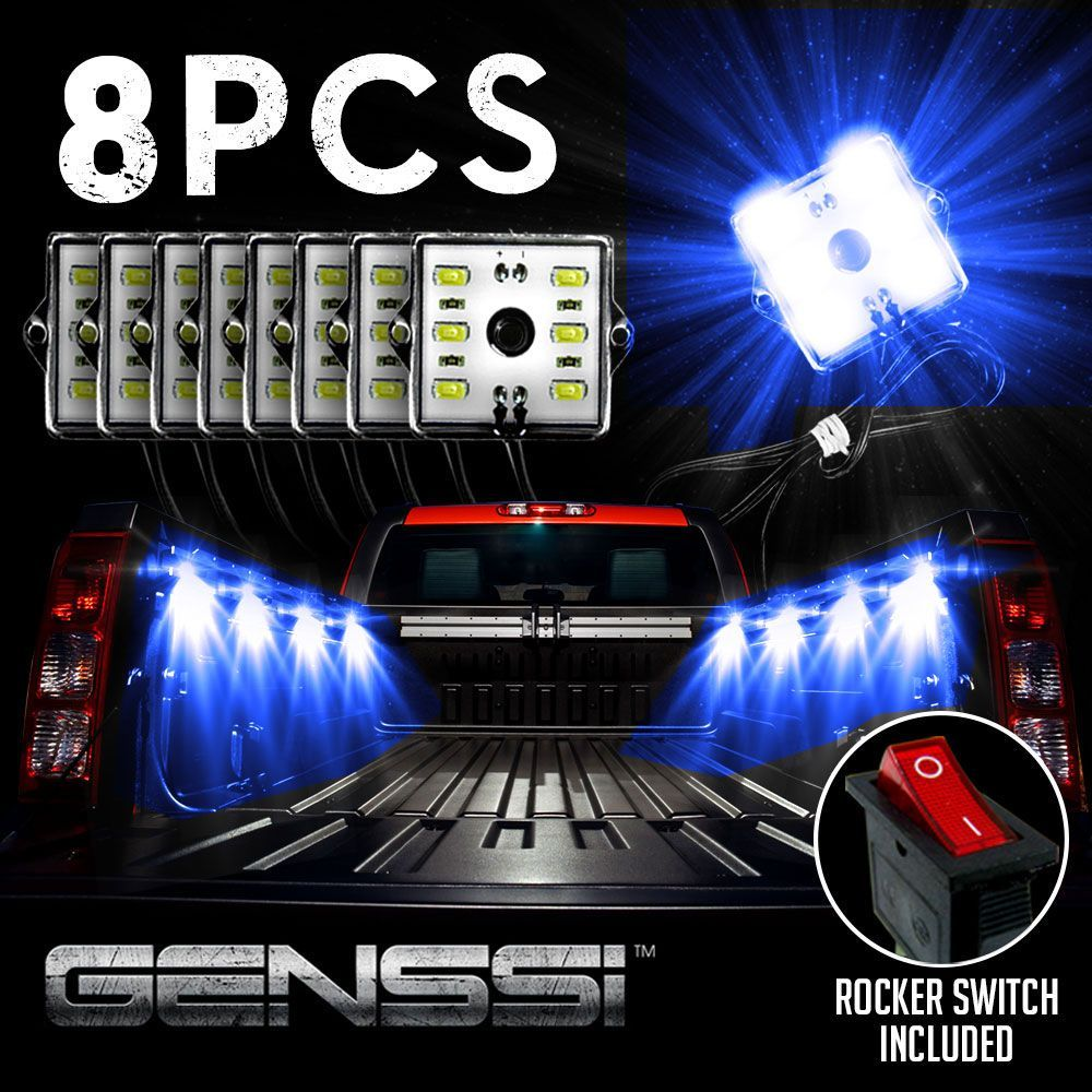 Led Bed Light Kit With 8 Led Modules And Switch Works With 12v Dc Nettoyer Voiture Plate Forme Camion Voiture