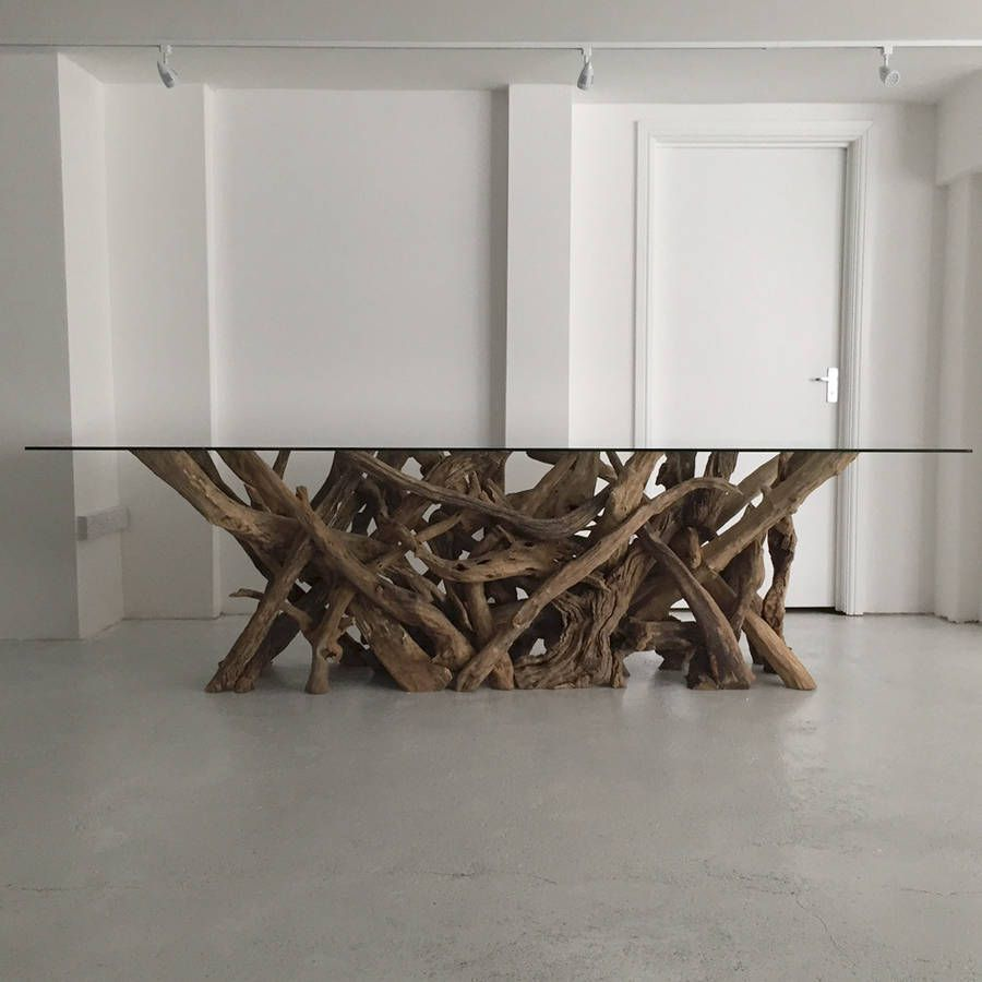 Large Natural Driftwood Rectangular Dining Table Base Dining Table Bases Driftwood Dining Table Glass Dining Room Table