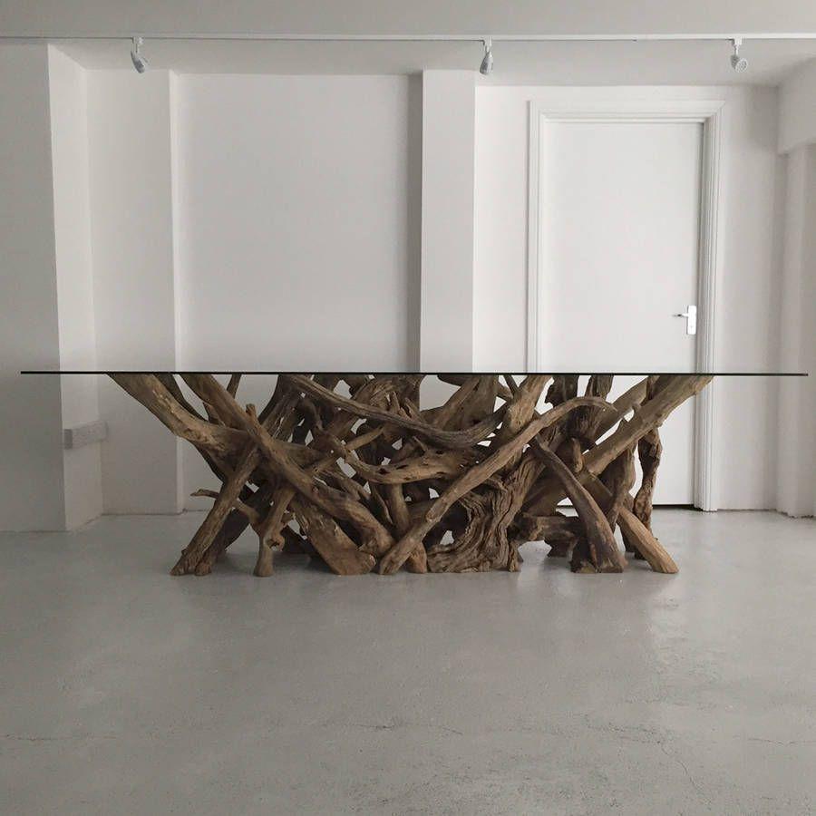 Large Natural Driftwood Rectangular Dining Table Base Dining Table Bases Driftwood Dining Table Rectangular Dining Table