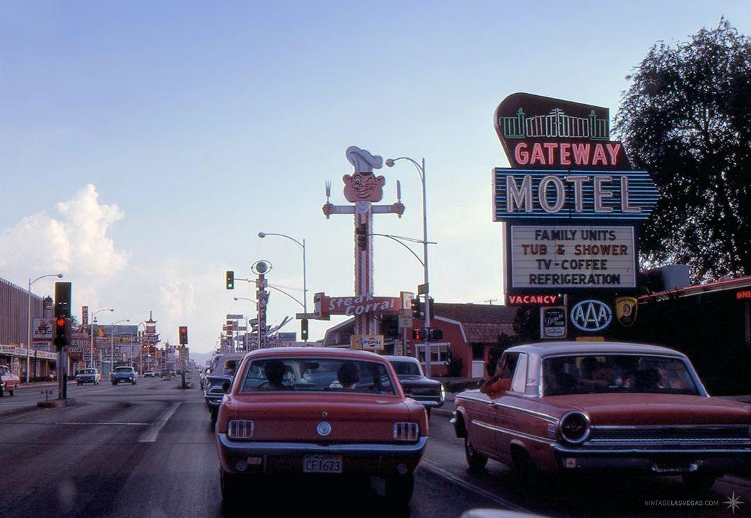 """vintagelasvegas """" Las Vegas Blvd at Charleston, July 1967"""
