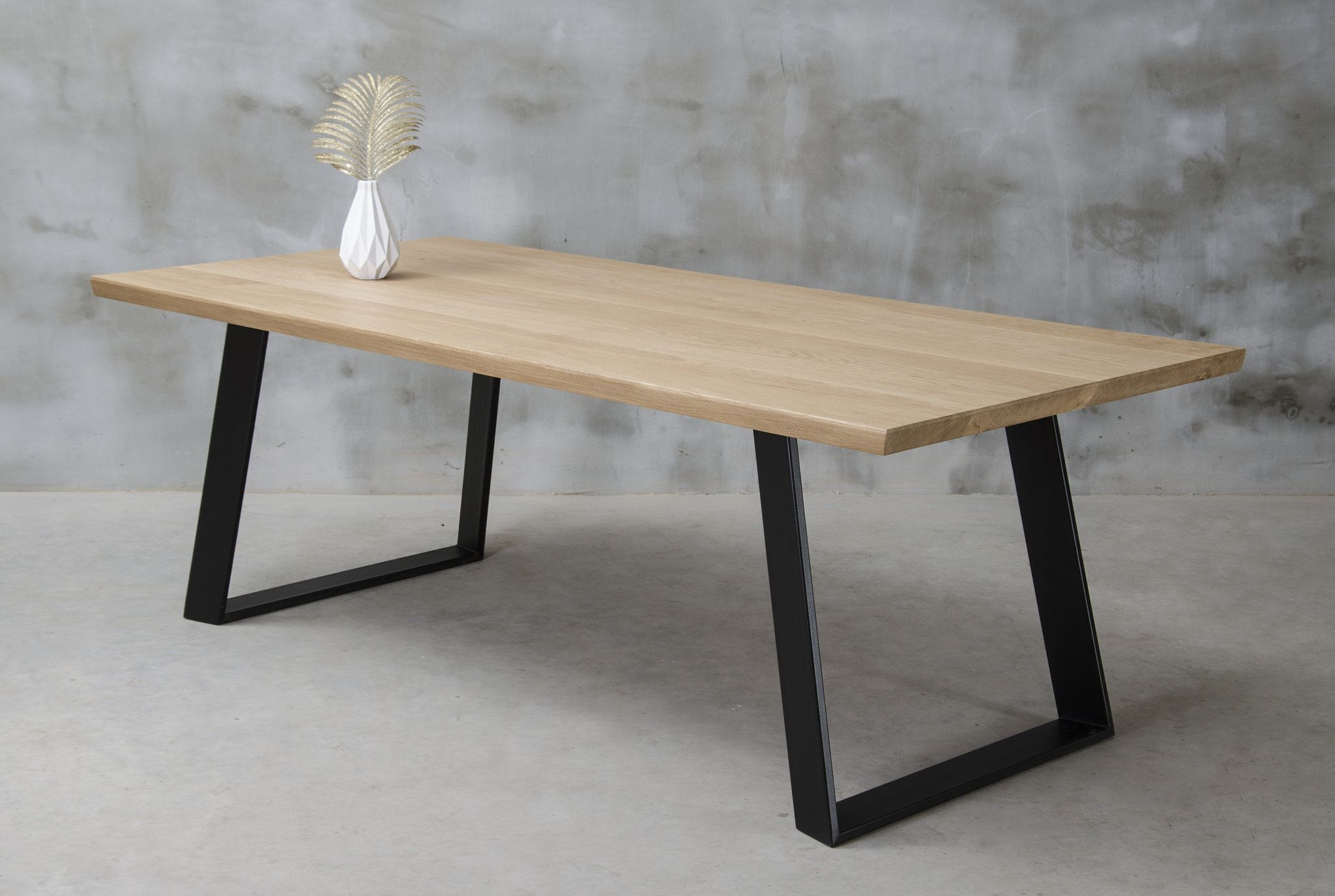 Live Edge Dining Table Oak Table One Slab Table Wooden Table Industrial Table Dining Table Oak Dining Table