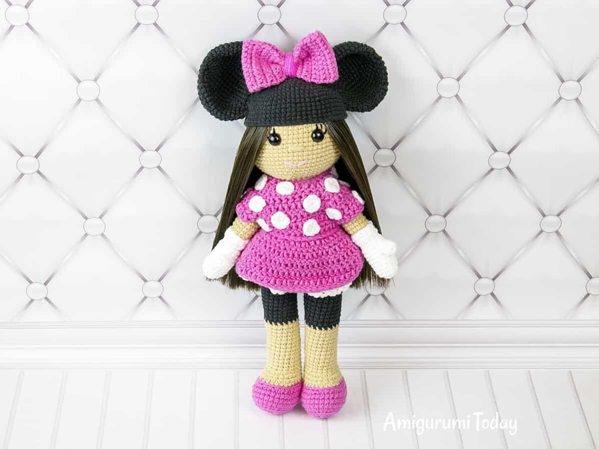 Vistoso Patrón De Sombrero Del Ganchillo Libre De Minnie Mouse ...