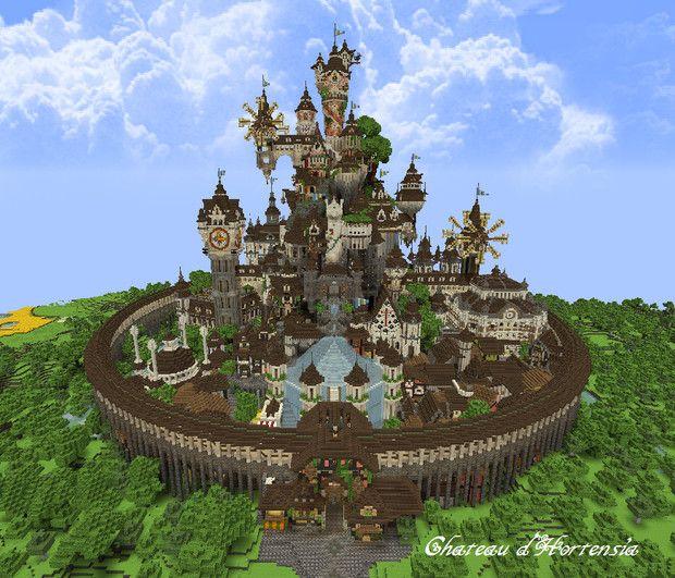 Minecraft オルタンシアのお城 はすっこ さんのイラスト マインクラフト イラスト 城