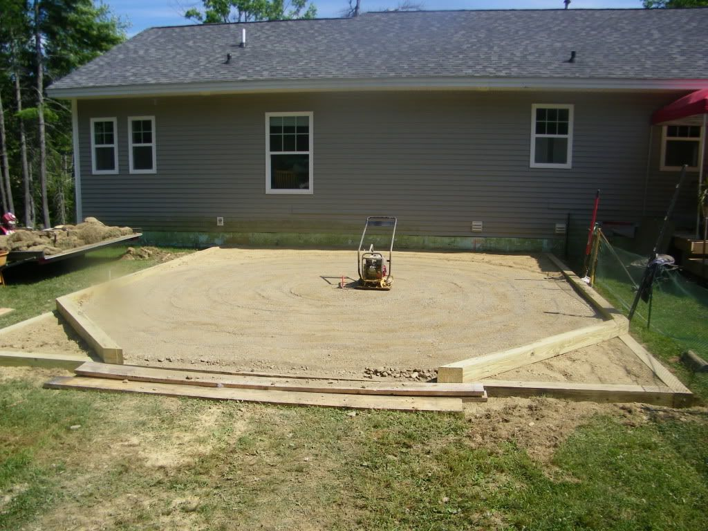 Preparing Ground For New Pool Installing Above Ground Pool Backyard Pool Landscaping Backyard Pool