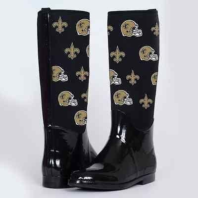 9b6e9d1b New Orleans Saints Cuce Shoes Women's Enthusiast II Rain Boots ...