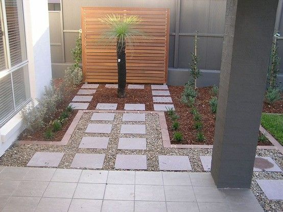 white rocks with large square pavers | Gardening & Outdoor ... on Square Paver Patio Ideas id=49938