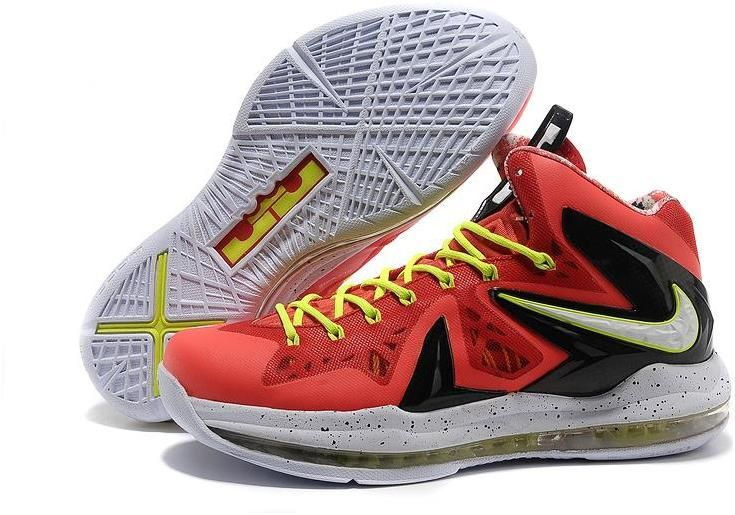 Nike Lebron James X PS Elite White Black Yellow Shoes