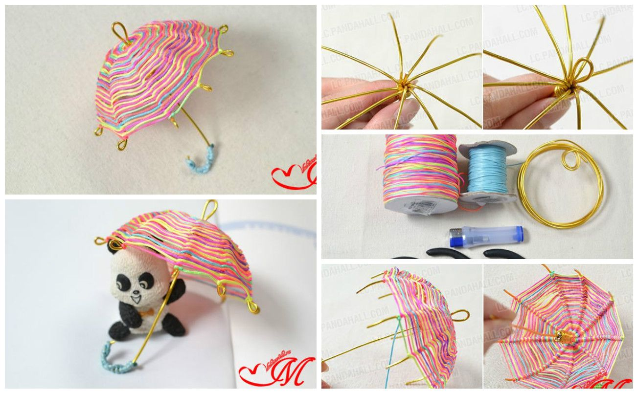 Decorative umbrella of wire craft creative things and for Very simple wire craft projects