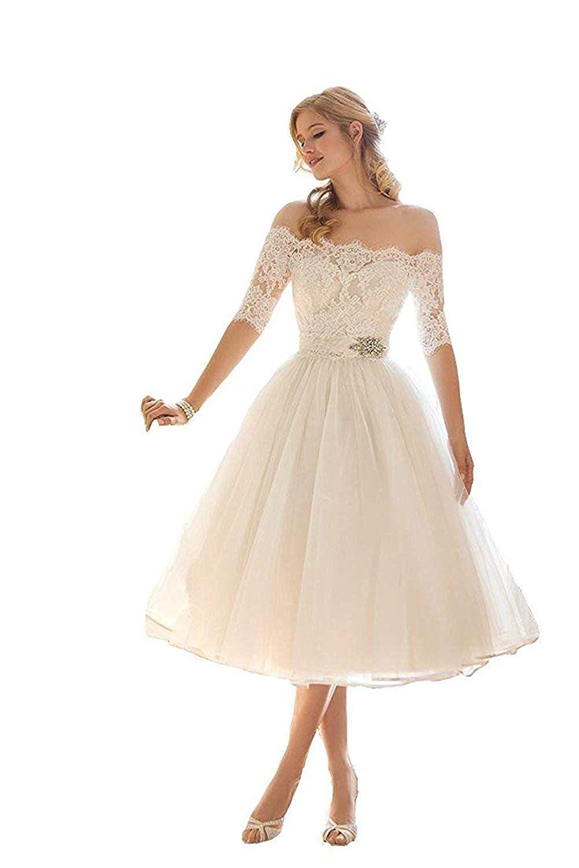 mingxuerong hochzeitskleid weiß kurz spitze tüll damen