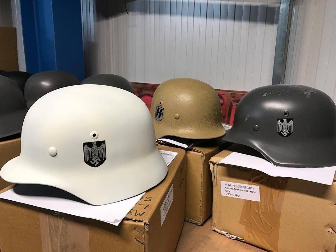 c5c582cd Some more great custom helmets under construction 🚧 . . #epicmilitaria  #military #army #ww1 #ww2 #reenactor #worldwar2 #history #britisharmy  #germanarmy ...