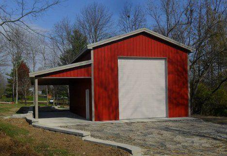 Pole barns pole buildings garages steel buildings for Rv pole barns