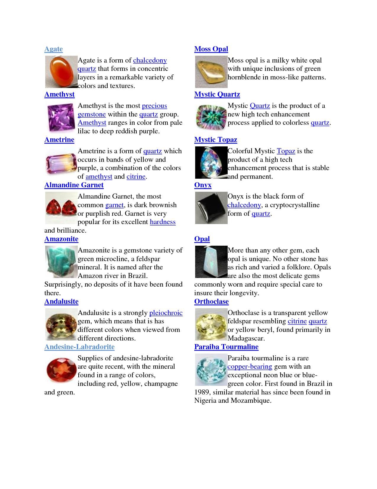 Crystal Gemstone Meanings | Gemstone List - bhsd228.schoolwi ...