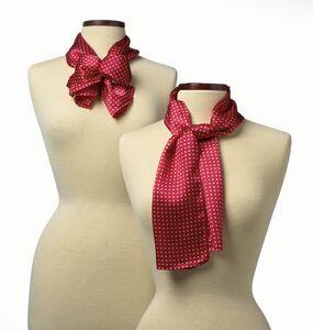 "Newport Silk Scarf - Red (45""x8""), Price/piece"