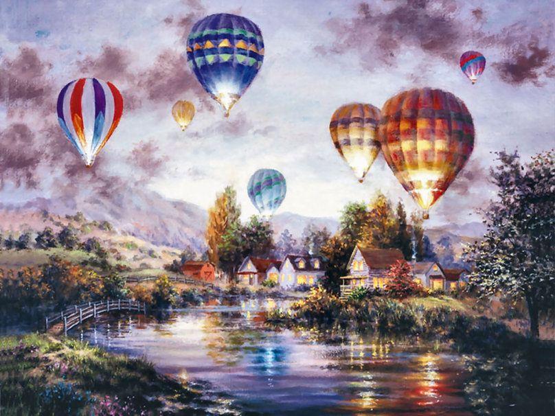hot air balloon art wallpaper wwwpixsharkcom images