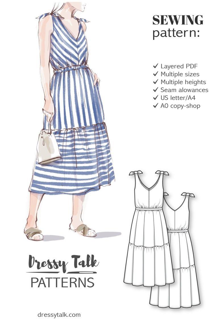Summer Dress Sewing Pattern For Women Summer Dress Sewing Patterns Summer Dress Patterns Dress Sewing Patterns [ 1124 x 750 Pixel ]