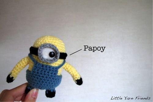 Crochet Pattern Lil Minion Despicable Me Crochet Pinterest